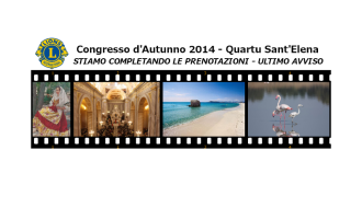 Congresso d'Autunno 2014: completate le vostre iscrizioni!