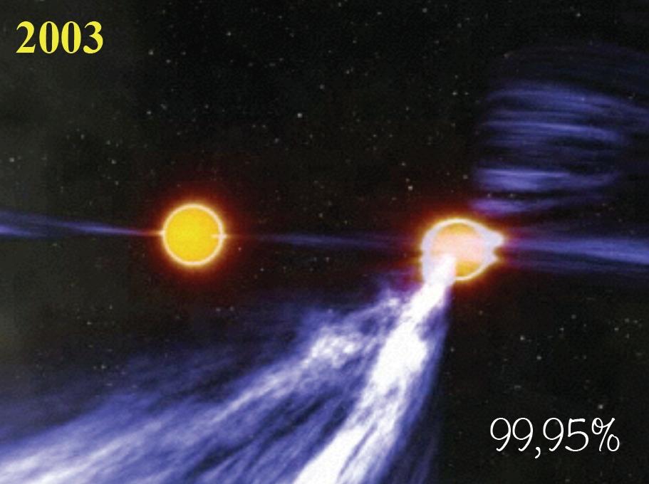La pulsar doppia scoperta da Marta Burgay