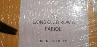Il Lions Club Roma Parioli per il Service Raccolta Occhiali Usati