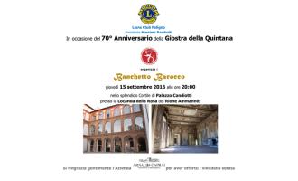 Banchetto Barocco a Foligno per raccogliere fondi