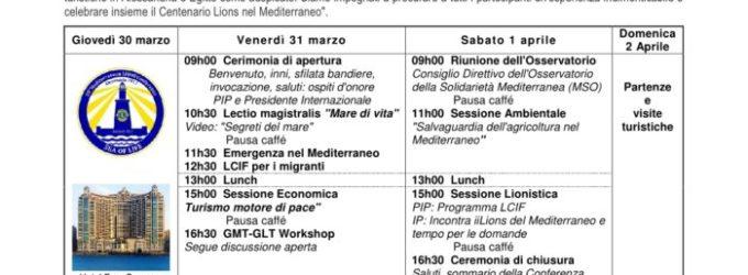 XX Conferenza dei Lions del Mediterraneo