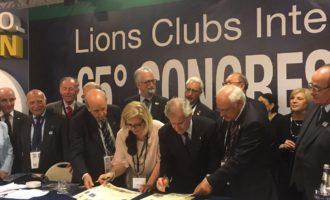 Patto di amicizia tra il Lions club Roma Parioli e il Lions Club Casarano
