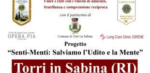 """L.C. Roma Parco Nomentum e L.C. Passo Corese Sabina Gens : Progetto """"Senti-Menti : Salviamo l'Udito e la Mente"""""""
