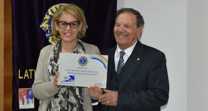 "Lions Club ""Latina Terre Pontine"" – Premi ai giovani."