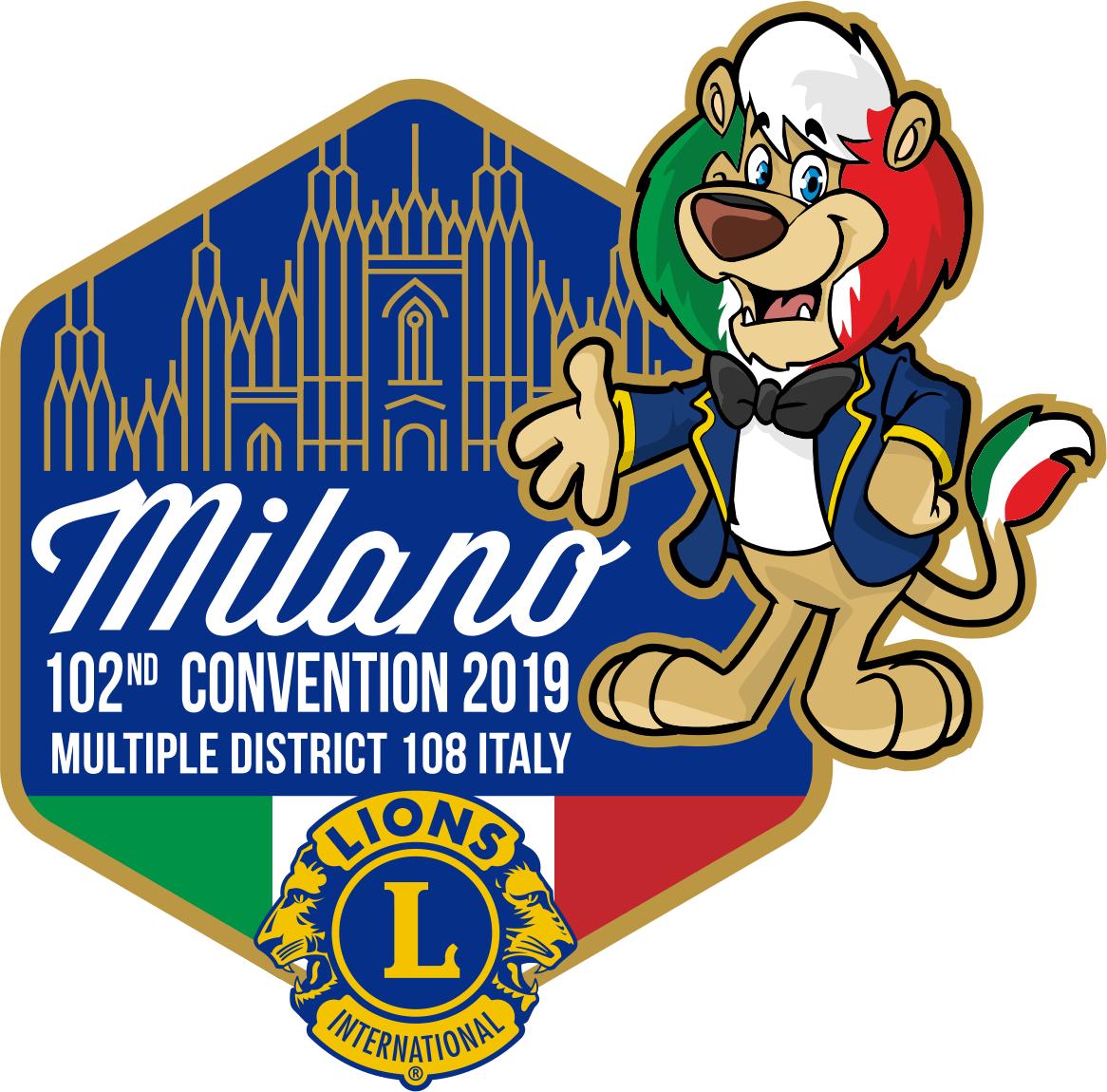 351de4a9153a Pin Ufficiale del Multidistretto 108 ITALY per la Convention di Milano