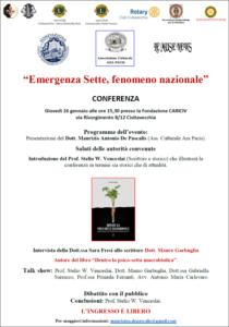 Emergenza Sette, fenomeno nazionale @ Fondazione CARICIV di Civitavecchia